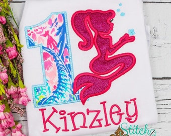 Personalized Mermaid Birthday Shirt, Birthday Mermaid Applique, Mermaid Applique, Mermaid Cove