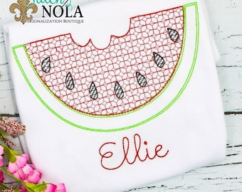 Watermelon Vintage Stitch, Vintage Watermelon, Watermelon Tee, Watermelon Shirt, Watermelon Embroidery