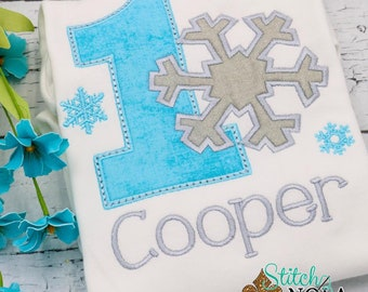 Winter Wonderland Birthday, Snowflake Applique, Snowflake Birthday Applique, Onederland Birthday Applique
