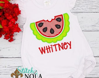 Watermelon Outfit, Personalized Watermelon Bubble Outfit, Summer Outfit