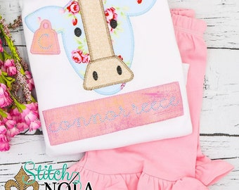 Cow Top and Shorts Set, Cow Applique Set, Cow Shirt and Shorts Set