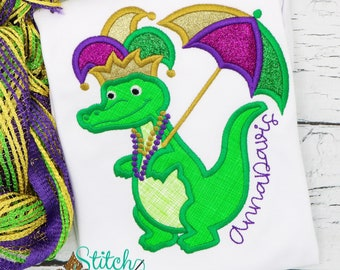 Mardi Gras Dog Applique