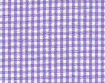 Purple Check Fabric, Fabric Finders, Purple Gingham Fabric. 1/16″ check. 100% cotton gingham