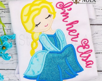 Elsa Inspired Applique, Frozen Inspired applique, Princess Applique, Frozen Princess Applique