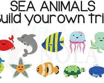 Sea Animals Trio, Sea Creatures  Trio, Sea Creatures Shirt, Sea Creatures, Beach Shirt