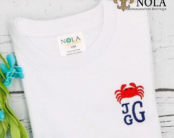 Crab Shirt, Bodysuit, Gown, Romper