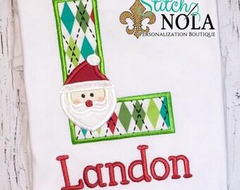 Santa Alpha Shirt, Gown, Romper or Bodysuit