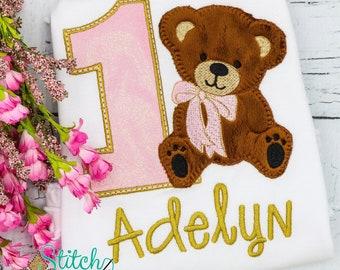 Teddy Bear Birthday  Shirt, Bodysuit, Bubble, Romper or Dress