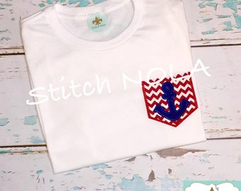 Anchor Pocket Tee Shirt or Bodysuit