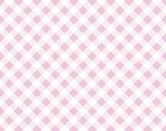 PINK Gingham by Riley Blake, 100% Cotton, PINK Check