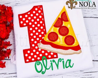 Pizza Birthday Shirt, Pizza Party Outfit, Birthday Outfit, Pizza Party, Pizza Applique Birthday Shirt