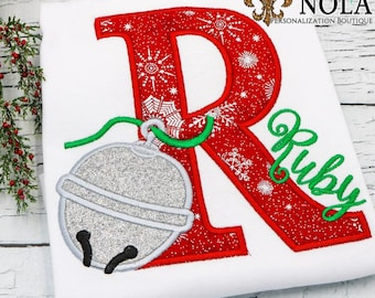 Bell Alpha Applique, Polar Express Applique, Bell Applique, Believe Shirt, Christmas Applique