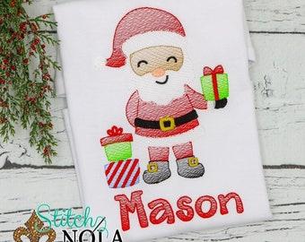 Santa Claus Shirt, Santa Sketch Shirt, Christmas Shirt