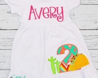 Taco Birthday Applique, Cinco de Mayo, Fiesta Birthday, Mexican Fiesta, Pinata Birthday, Sombrero Birthday, Girl Fiesta Birthday, Boy Fiesta