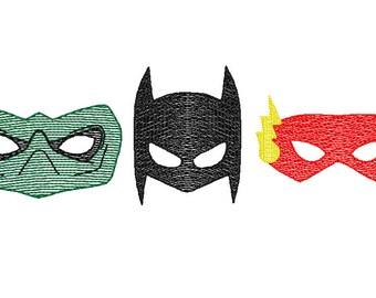 Superhero Trio Sketch Embroidery, Vintage Superhero Trio, Superhero Trio Embroidery