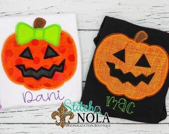 Personalized Jackolantern Applique, Pumpkin Appliqué Shirt, Fall Shirt, Pumpkin Appliqué, Fall Appliqué, Pumpkin Shirt