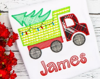 Christmas Dump Truck Applique, Christmas Applique, Boy Christmas Applique, Christmas Applique, Dump Truck Applique