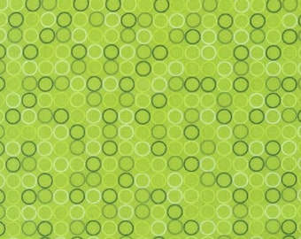 Spot On Lime by Robert Kaufman, Lime Polka Dots, Polka Dots Fabric, Robert Kaufman