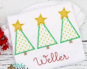 Oh Christmas Trio, Christmas Tree Trio Applique, Christmas Tree Applique, Christmas Applique, Tree Trio Shirt, Tree Trio Applique, XMAS Shir