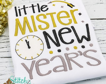 Little Mister New Years, New Years Embroidery