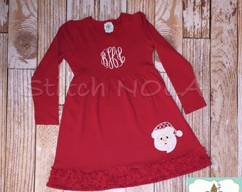 Santa Red Ruffle Dress