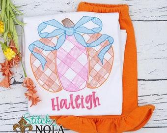 Girls Pumpkin Outfit, Fall Outfit, Sketch Pumpkin Shirt and Shorts Set, Fall Festival Outfit, Girls Pumpkin Shirt