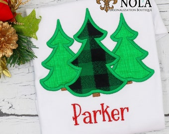 Christmas Tree Applique,  Christmas Tree Trio Applique, Personalized Christmas Shirt, Holiday Shirt, Xmas