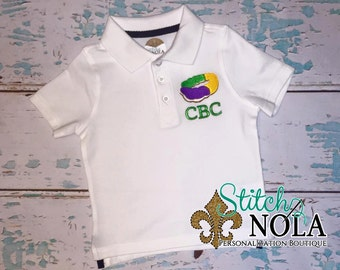 King Cake Collared Shirt ONLY