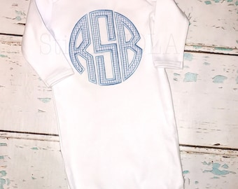 Circle monogram Shirt, Bubble, Romper or Bodysuit