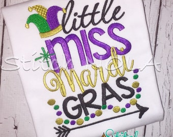 Little Miss Mardi Gras Shirt or Bodysuit