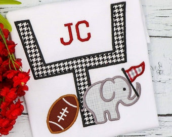 Alabama goalpost appliqué, alabama appliqué, Alabama football shirt, Alabama football, football shirt, football appliqué