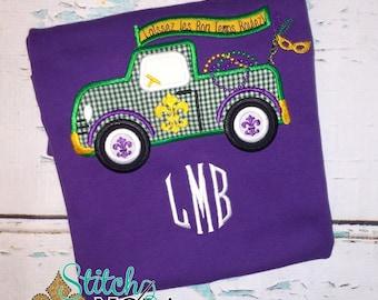 Mardi Gras Truck Shirt, Bodysuit, Romper, Gown or Bead Bag