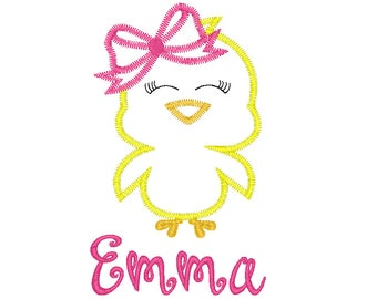 Chick Applique, Easter Chick Applique, Girl Chick, Boy Chick