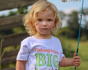 Big Brother Fishing Applique, Little Brother Fishing Applique,, Big Sister Fishing Applique,, Little Sister Fishing Applique, Sibling Set