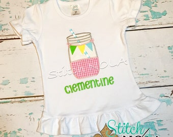 Lemonade Mason Jar Bubble, Tee, Gown, or Bodysuit