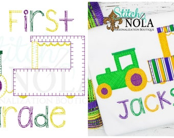 My First Parade Applique, Mardi Gras Float Applique