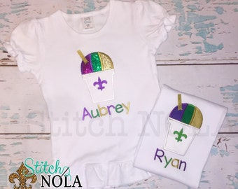 Mardi Gras Snowball Shirt, Bodysuit or Gown