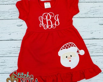 Santa Claus Applique, Santa Applique, Santa Shirt, Santa Tee, Christmas Applique, Christmas Shirt, XMAS Pics