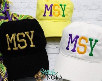 504 Cap, MSY Cap, King Cake Cap, New Orleans Cap, Adult Monogrammed Caps