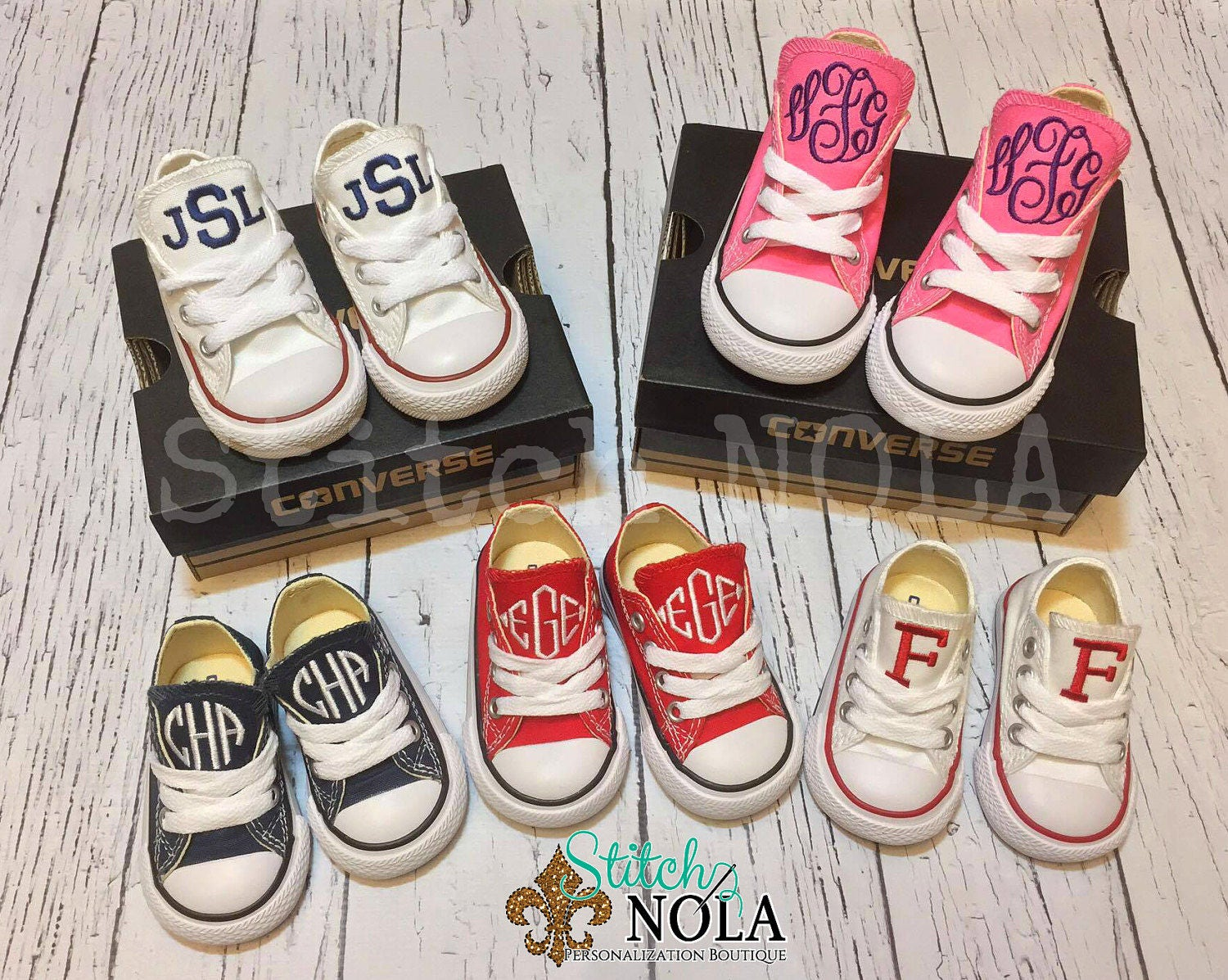76e44672f004 Monogrammed Chuck Taylor Classic Converse Shoes - Toddler   Youth