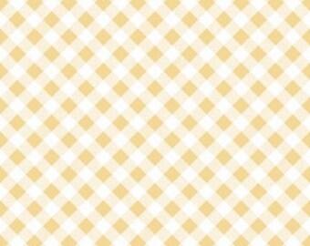 YELLOW Gingham by Riley Blake, 100% Cotton, YELLOW Check
