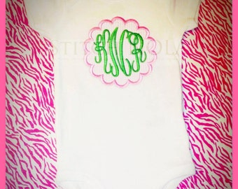 Scallop Monogram T-Shirt or Bodysuit
