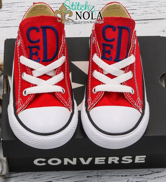 f2f6c6cb1295 Monogrammed Chuck Taylor Classic Converse Shoes Toddler