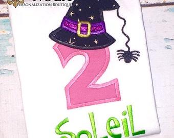 Halloween Birthday Shirt or Bodysuit, Witch Hat Birthday