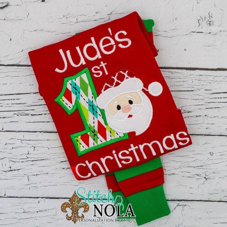 Personalized Christmas Pajamas Kids.Personalized Kids Christmas Pajamas
