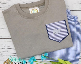 Whale Pocket Tee Set, Whale Shorts Set, Whale Shirt and Shorts, Boy Whale Pocket Shirt, Toddler Whale Shorts Set