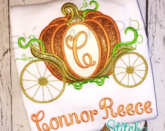 Pumpkin Carriage, Princess Carriage Shirt, Bodysuit, Bubble, Romper, Dress, Princess Carriage Birthday Shirt, Any Letter Number