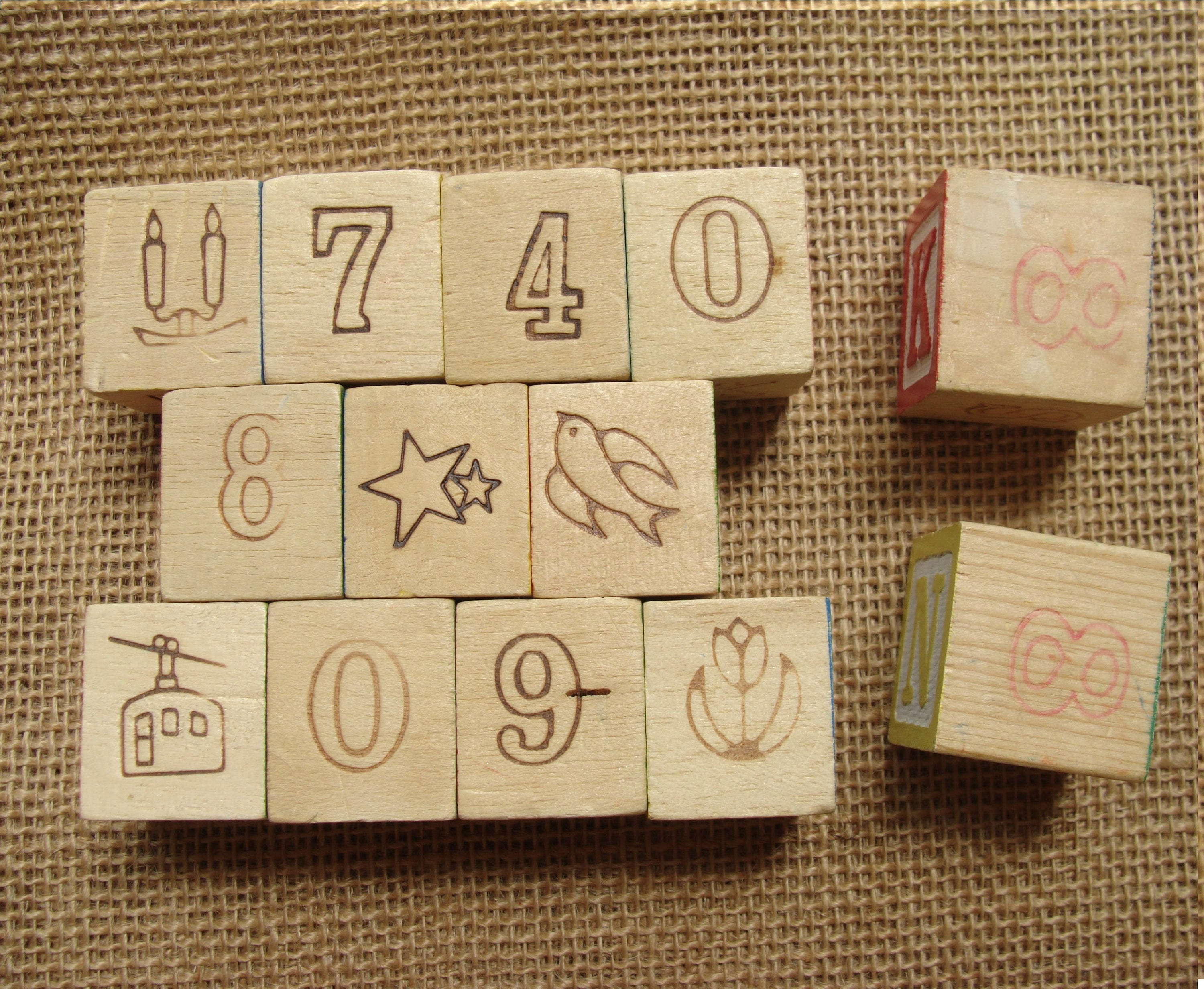 Children\'s wood letter block lot for upcycle, DIY, repurpose ...