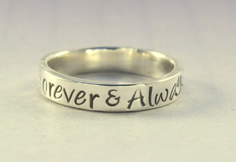 Sterling Silver Poesy Rings Quote Rings RG700