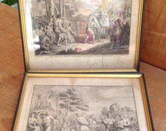 Pair of 18 th century engraving